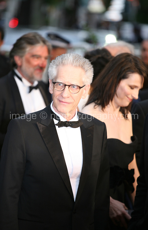 Director David Cronenberg and actress Juliette Binoche at the Cosmopolis gala screening at the 65th Cannes Film Festival France. Cosmopolis is directed by David Cronenberg and based on the book by writer Don Dellilo.  Friday 25th May 2012 in Cannes Film Festival, France.