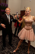 Leigh Zimmerman with Bruce Forsyth, First night for 'The Producers' at the Theatre Royal, Drury Lane and afterwards at the Waldorf Astoria. ONE TIME USE ONLY - DO NOT ARCHIVE  © Copyright Photograph by Dafydd Jones 66 Stockwell Park Rd. London SW9 0DA Tel 020 7733 0108 www.dafjones.com