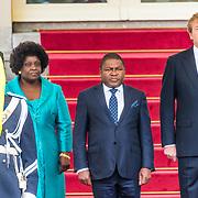 NLD/Den Haag/20170519 - Koning Willem Alexander en Koningin Maxima Ontvangen Presidentspaar Mozambique, Koning Willem-Alexander en president Filipe Nyusi, en de first lady  Isaura Nyusi