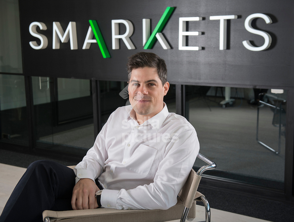 Jason Trost, CEO and founder of 'Smarkets'  pictured at their east London offices. <br /> Picture by Daniel Hambury/Stella Pictures Ltd +44 7813 022858<br /> 07/01/2016