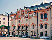 Narodowy Stary Teatr im. Heleny Modrzejewskiej w Krakowie, widok z placu Szczepańskiego, Polska<br /> National Old Theatre of Helena Modrzejewska in Cracow, view from the square of Szczepański, Poland