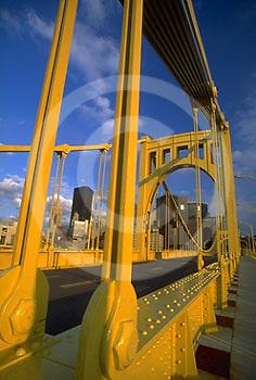 Pittsburgh, PA, Skyline, North Side Bridge