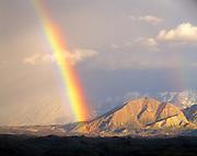 Rainbow above the Muldrow Glacier with the Alaska Range beyond, Denali National Park, Alaska.