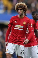 Marouane Fellaini of Manchester United looking on. Premier league match, Chelsea v Manchester Utd at Stamford Bridge in London on Sunday 23rd October 2016.<br /> pic by John Patrick Fletcher, Andrew Orchard sports photography.