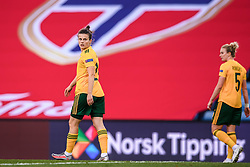 OSLO, NORWAY - Tuesday, September 22, 2020: Wales' Hayley Ladd looks dejected as Norway score the only goal of the game during the UEFA Women's Euro 2022 England Qualifying Round Group C match between Norway Women and Wales Women at the Ullevaal Stadion. Norway won 1-0. (Pic by Vegard Wivestad Grøtt/Propaganda)