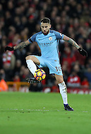Nicolas Otamendi of Manchester City during the English Premier League match at Anfield Stadium, Liverpool. Picture date: December 31st, 2016. Photo credit should read: Lynne Cameron/Sportimage