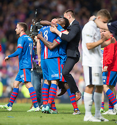 Inverness Caledonian Thistle's Ross Draper with players at the end. Falkirk 1 v 2 Inverness CT, Scottish Cup final at Hampden.