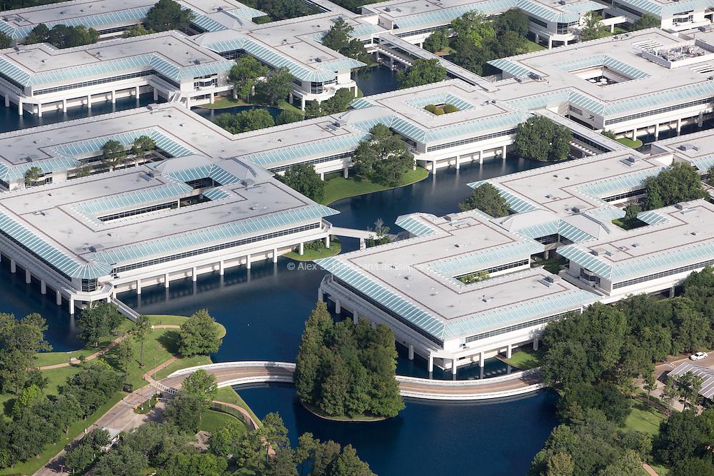 ConocoPhillips Headquarters with artificial retention ponds