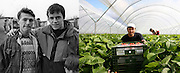Radu Esanu -left on the picture- when he was 15 in 1993 at the orphanage in Popricani and in Scotland in 2007. He spent 3 months on a farm working as a fruit picker, a job he did every Summer in the UK till 2013. He got married to Andrea in 2008 and they both have a daughter born in 2009. They live in Botosani. Although he studied agronomy at university, he still hasn't found a job up to his qualifications.