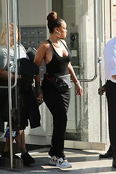 Rihanna no bra and maxi dress seen out and about In Nyc. 10 Sep 2017 Pictured: Rihanna. Photo credit: BELFA / MEGA TheMegaAgency.com +1 888 505 6342