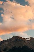 Sunset over Electric Peak, SW Montana, near Gardiner, MT; August 2011