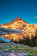 Sunrise on Mt. Banner and Thousand Island Lake in the Sierra Nevada California<br /> Mt. Banner Glows in the Sunrise