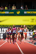 Hellen Obiri of Kenya wins the Prefontaine Classic's Womens 1500 m with a time of 3:57.05. The Prefontaine Classic, the longest-running international invitational meet in the United States, turns 40 this year.<br /> The 2014 elite competition held in Eugene, Oregon at the University of Oregon's historic Hayward Field is in it's 5th year hosting the IAAF's Diamond League event.