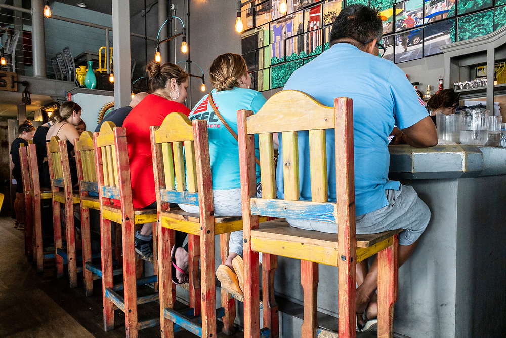 Interesting bar seats at Beer Barrio in downtown Wilmington, North Carolina on Monday, August 9, 2021. Copyright 2021 Jason Barnette