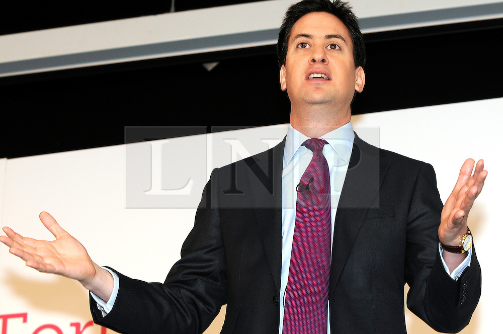 © under license to London News Pictures. 27.11.2010 Ed Miliband Leader of the Labour Party  making a speech at the Party's national policy forum at Gillingham Football Club, Priestfield Stadium, Kent.  Picture credit should read Grant Falvey/London News Pictures