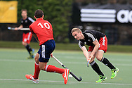 Mens international hockey, Wales v France at the National Hockey Centre, Sophia Gardens in Cardiff, South Wales on Thursday 21st April 2016.<br /> pic by Andrew Orchard, Andrew Orchard sports photography.