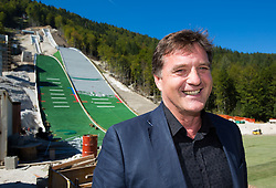 Drago Balent at media day of Slovenian Ski jumping team during construction of two new ski jumping hills HS 135 and HS 105, on September 18, 2012 in Planica, Slovenia. (Photo By Vid Ponikvar / Sportida)