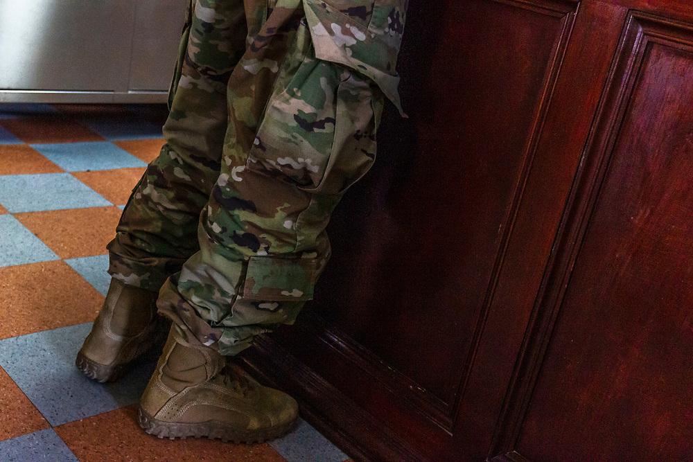 army uniform, detail, Roma, Texas, USA.