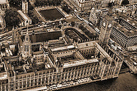 Houses of Parliament / Westminster Palace (sepia)