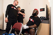 Houston, Texas - February 19, 2016: Dada 5000 waits backstage before fighting against Kimbo Slice during Bellator 149 at the Toyota Center in Houston, Texas on February 19, 2016. (Cooper Neill for ESPN)