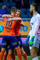 1. divisjon fotball 2018: Aalesund - Tromsdalen. Aalesunds Torbjørn Agdestein feirer 1-0 i førstedivisjonskampen i fotball mellom Aalesund og Tromsdalen på Color Line Stadion.