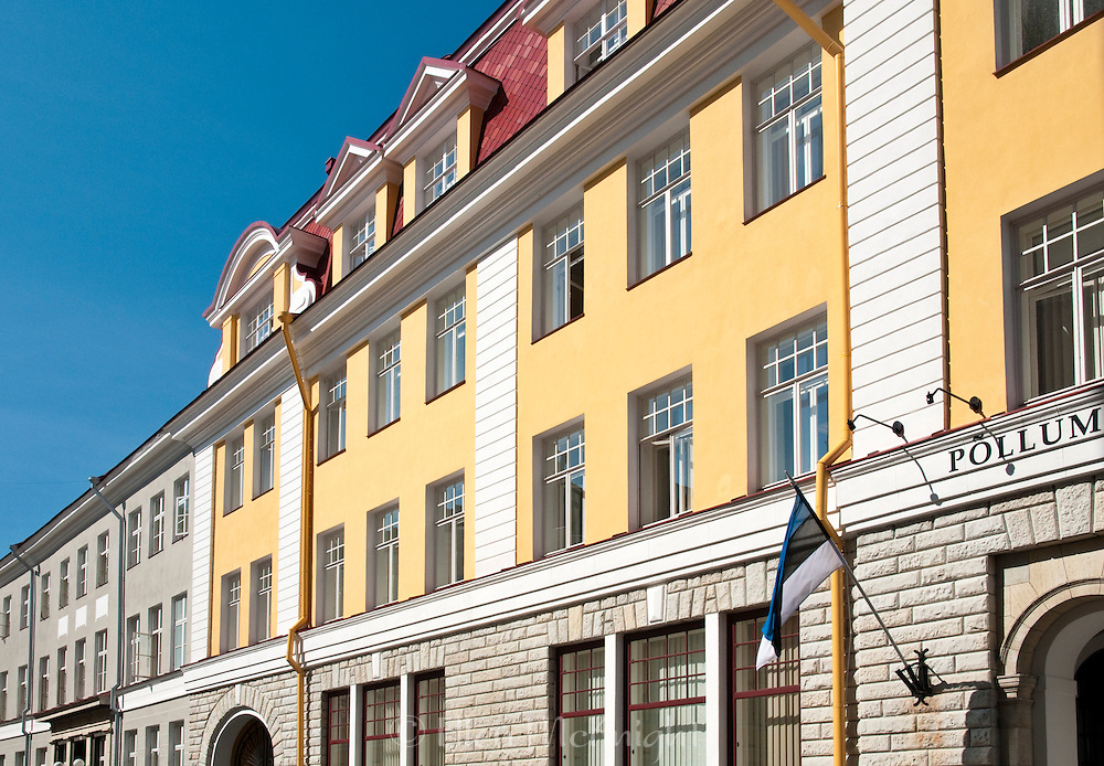 Colorful Building Facades in Tallinn, Estonia