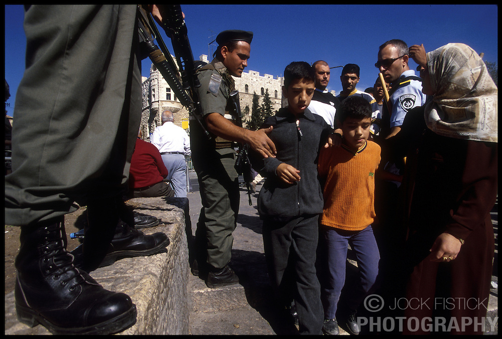 As a security percaution, Israeli security forces denied Plaestinian men under the age of 45 from entering the Old City in East Jerusalem for Friday prayers. (Photo © Jock Fistick)