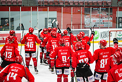 HDD SIJ Jesenice celebrating Alps League Ice Hockey match between HDD SIJ Jesenice and HK SZ Olimpija on January 2, 2021 in Ice Arena Podmezakla, Jesenice, Slovenia. Photo by Peter Podobnik / Sportida