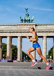 August 12, 2018 - Berlin, GERMANY - 180812 Cecilia Norrbom of Sweden runs past the Brandenburger Tor in the women's marathon final during the European Athletics Championships on August 12, 2018 in Berlin..Photo: Vegard Wivestad GrÂ¿tt / BILDBYRN / kod VG / 170206 (Credit Image: © Vegard Wivestad Gr¯Tt/Bildbyran via ZUMA Press)
