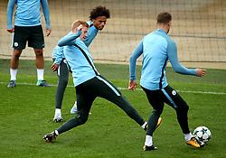 Kevin De Bruyne, Leroy Sane and John Stones of Manchester City - Mandatory by-line: Matt McNulty/JMP - 12/09/2017 - FOOTBALL - City Football Academy - Manchester, England - Feyenoord v Manchester City - Training Session - UEFA Champions League - Group F