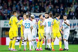 Players fighting during the UEFA EURO 2016 Play-off for Final Tournament, Second leg between Slovenia and Ukraine, on November 17, 2015 in Stadium Ljudski vrt, Maribor, Slovenia. Photo by Urban Urbanc / Sportida
