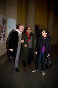 BOB AND ROBERTA SMITH; Subodh Gupta; BARTA KHER, Altermodern, Tate Triennial 2009, Tate Britain. London. 2 February 2009 *** Local Caption *** -DO NOT ARCHIVE-© Copyright Photograph by Dafydd Jones. 248 Clapham Rd. London SW9 0PZ. Tel 0207 820 0771. www.dafjones.com.<br /> BOB AND ROBERTA SMITH; Subodh Gupta; BARTA KHER, Altermodern, Tate Triennial 2009, Tate Britain. London. 2 February 2009