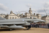 Friday 1 April 2016 is the 98th anniversary of the foundation of the RAF. To celebrate this the RAF Museum Hendon had a Sopwith Snipe, a Supermarine Spitfire and a BAe Typhoon Jet on Horse Guards Parade plus an RAF Typhoon Jet Flypast.