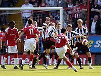 Photo: Olly Greenwood.<br />Charlton Athletic v Sheffield United. The Barclays Premiership. 21/04/2007. Charlton's Talal El Karkouri goes close with a free kick