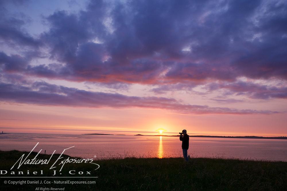 Colter photographs the sunset over Sligo Bay, Ireland.