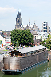 Exterior of Noah's Ark relligious tourist attraction in Rheinauhafen district of Cologne Germany
