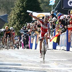 Sportfoto archief 2012<br /> Joaquim Rodriguez wint de Waalse Pijl voor Michael Albasini en Philippe Gilbert