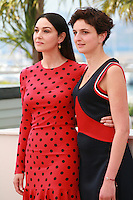 Actress Monica Bellucci and Director Alice Rohrwacher at the photo call for the film The Wonders (Le Meraviglie) at the 67th Cannes Film Festival, Sunday 18th May 2014, Cannes, France.