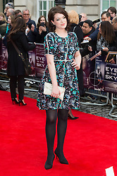 © Licensed to London News Pictures. 11/04/2016. Jessica Jones arrives for the European film premiere of Eye In The Sky. London, UK. Photo credit: LNP
