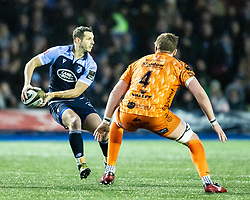 Jason Tovey of Cardiff Blues<br /> <br /> Photographer Simon King/Replay Images<br /> <br /> Guinness PRO14 Round 9 - Cardiff Blues v Dragons - Thursday 26th December 2019 - Cardiff Arms Park - Cardiff<br /> <br /> World Copyright © Replay Images . All rights reserved. info@replayimages.co.uk - http://replayimages.co.uk