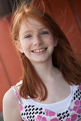 United States, Washington, Bellevue, girl (age 12)  MR