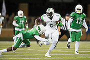 Marshall Thundering Herd tight end Emanuel Byrd (6) breaks free against the North Texas Mean Green during the 2nd half at Apogee Stadium in Denton, Texas on October 8, 2016. (Cooper Neill for The Herald-Dispatch)