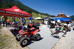 AS Domzale Moto center at MTB Downhill European Championships, on June 14, 2009, at Kranjska Gora, Slovenia. (Photo by Vid Ponikvar / Sportida)