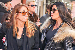 Jill Zarin departs from the funeral for her late husband, Bobby Zarin today. She was comforted by Bethenny Frankel, Patti Stanger and Marla Maples. Mr. Zaron died of cancer. 15 Jan 2018 Pictured: Jill Zarin, Patti Stanger. Photo credit: ZapatA/MEGA TheMegaAgency.com +1 888 505 6342