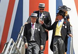Racegoers enjoy the atmosphere in the Royal Enclosure during day two of Royal Ascot at Ascot Racecourse.