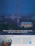American Express, Washington DC, Receipts