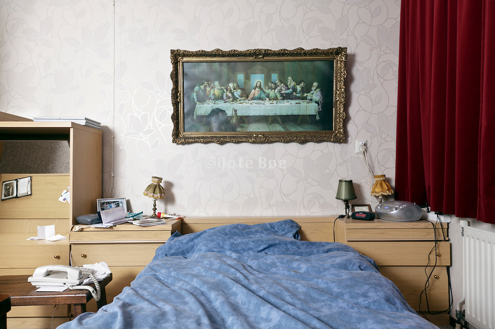 bedroom of elderly person in a independent living retirement home
