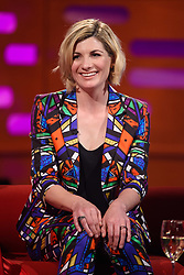 Jodie Whittaker during the filming of the Graham Norton Show at BBC Studioworks 6 Television Centre, Wood Lane, London, to be aired on BBC One on Friday evening.