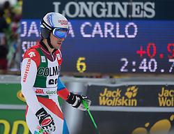 22.12.2013, Gran Risa, Alta Badia, ITA, FIS Ski Weltcup, Alta Badia, Riesenslalom, Herren, 2. Durchgang, im Bild Carlo Janka (SUI) // Carlo Janka of Switzerland reacts in the finish Area during 2nd run of mens Giant Slalom of the Alta Badia FIS Ski Alpine World Cup at the Gran Risa Course in Alta Badia, Italy on 2012/12/22. EXPA Pictures © 2013, PhotoCredit: EXPA/ Johann Groder