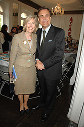 LADY SOLTI and RICHARD STAMP at a lunch in aid of African Solutions To African Problems held at Il Bottaccio, 9 Grosvenor Place, London on 20th May 2008.<br />